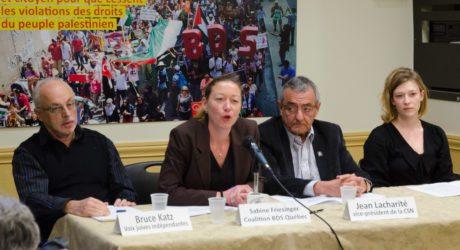 Il faut s'opposer à la motion  conservatrice de criminaliser la critique citoyenne des  politiques d'Israël envers le peuple palestinien