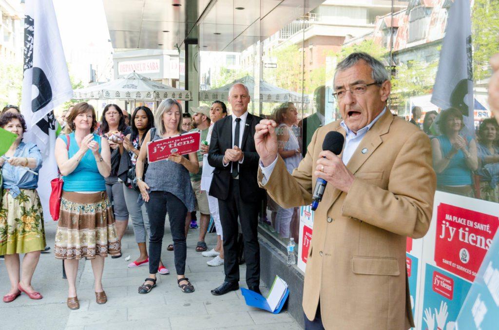 Jean Lacharité, vice-président de la CSN, photo : Raynald Leblanc