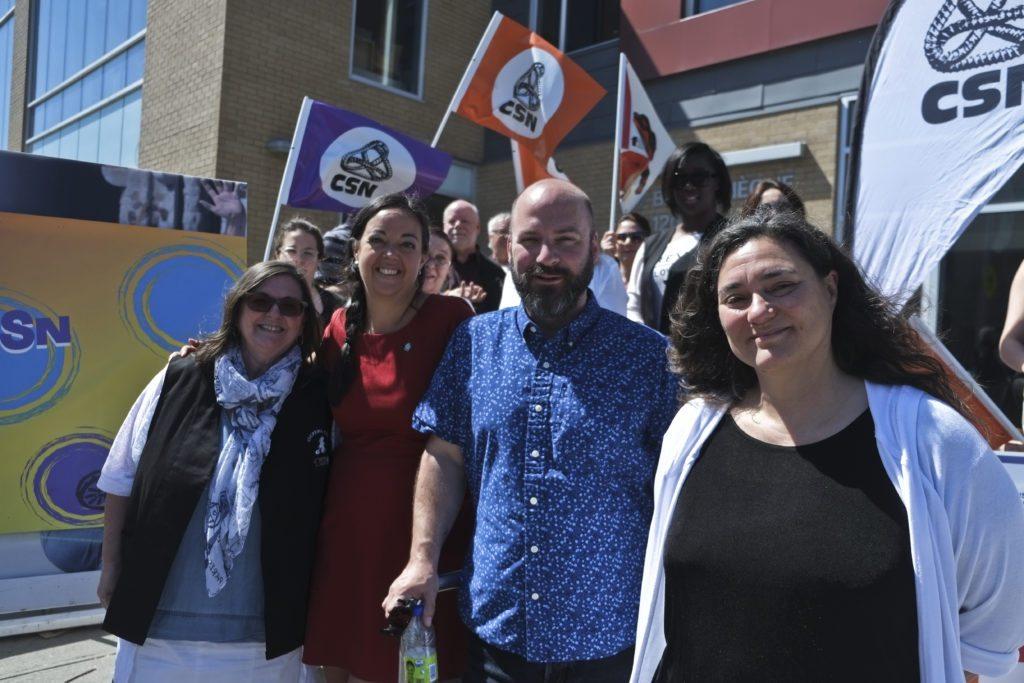 De gauche à droite, Carole Leroux, Véronique De Sève, Luc Bastien et Dominique Daigneault