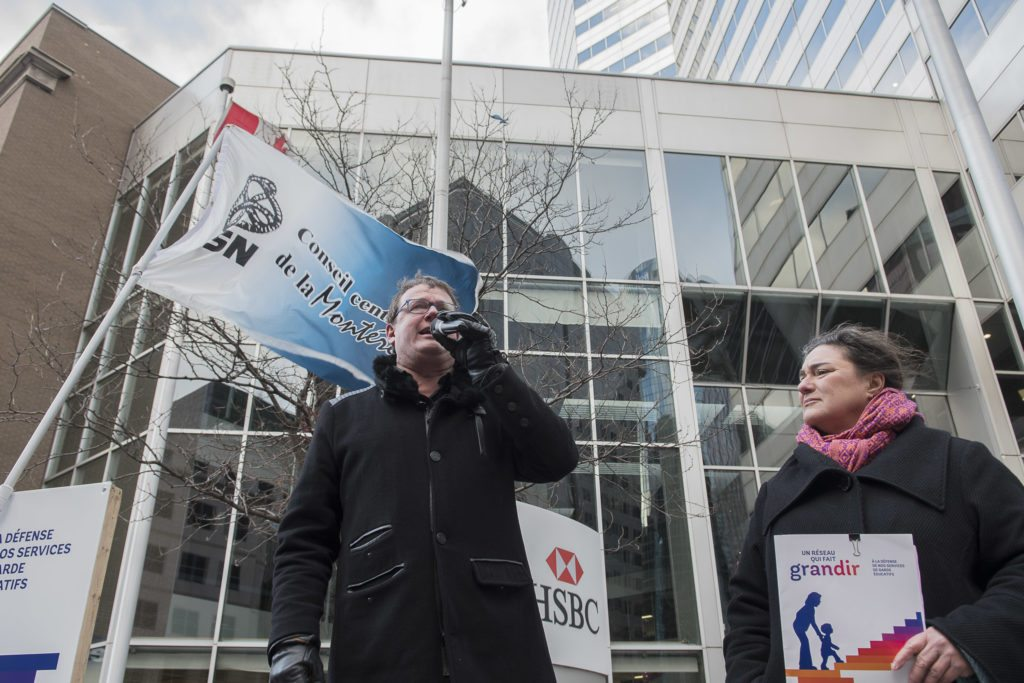 Jacques Létourneau, président de la CSN, Montréal, photo : Michel Giroux
