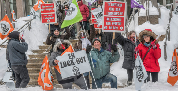 Le syndicat interpelle la haute direction des Hôtels Gouverneur | Photo : Michel Giroux