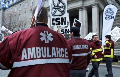 La Coopérative ambulancière de la Mauricie se joint à la CSN