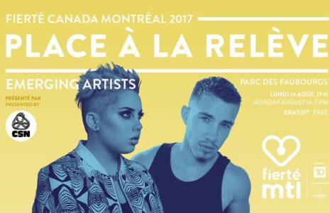 Spectacle gratuit : Place aux jeunes artistes LGBT+ de la relève