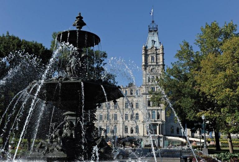 La fontaine de l'Assemblée nationale du Québec