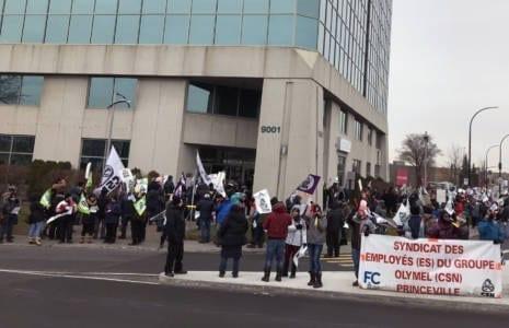 Manifestation à la Coopérative fédérée