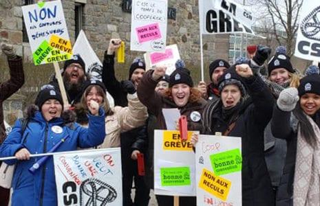 Une première journée de grève à la Coop du Collège de Maisonneuve