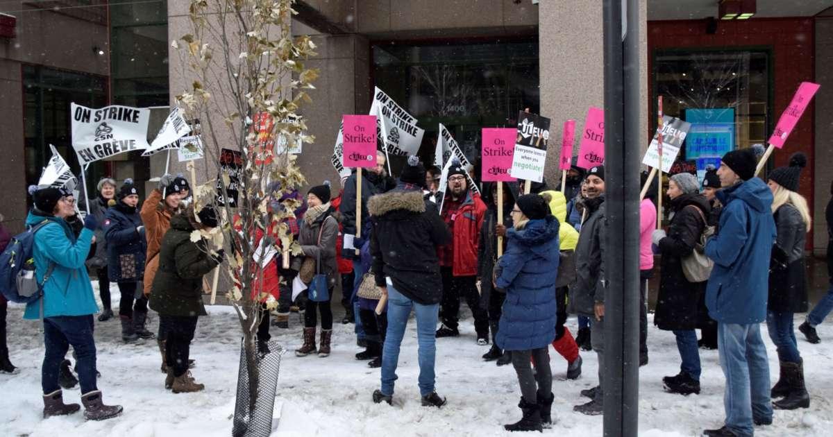 Employé-es des bibliothèques de l'Université Concordia en grève