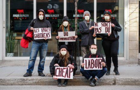 Les travailleuses et travailleurs  du communautaire manifestent à Montréal