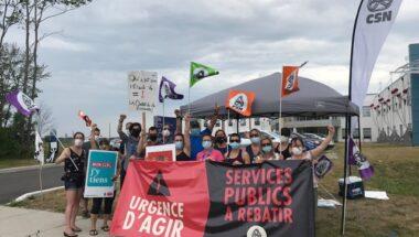 Les syndiqué-es CSN du CISSS de Lanaudière maintiennent la pression sur le gouvernement tout au long de l'été