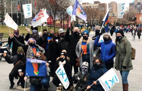 Manifestations en appui aux travailleuses et aux travailleurs des services publics
