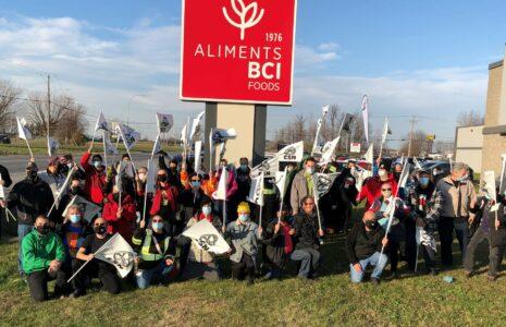 La solidarité et la lutte paient à Aliments BCI inc.
