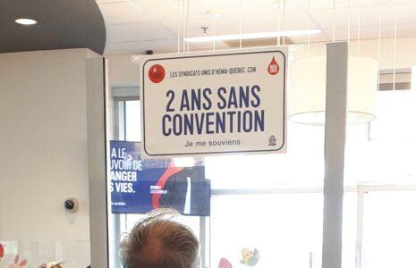 Opération visibilité «Je me souviens» des Syndicats unis d'Héma-Québec