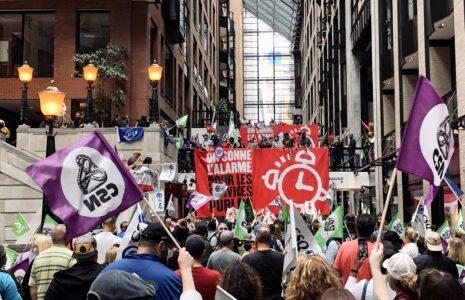 Les travailleuses et les travailleurs des services publics sonneront l'alarme tant qu'il le faudra!