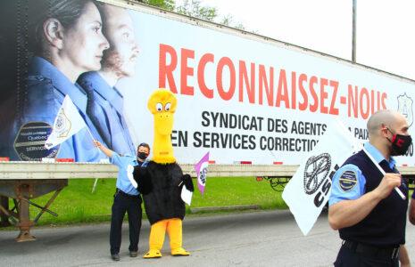 Les agents correctionnels du Québec s'impatientent