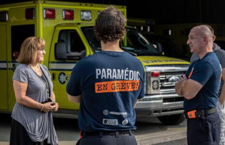 Déclenchement de la grève des paramédics de la grande région de Québec