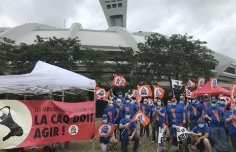 Les syndiqués du Parc olympique seront en grève du 7 au 9 septembre prochain