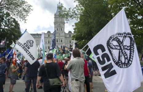 La FTQ, la CSN, la CSQ et la CSD demandent au gouvernement de réécrire le projet de loi no 59