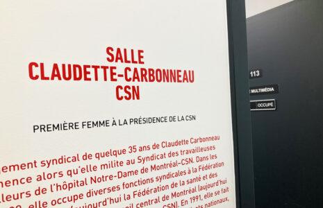 Une salle en l'honneur de Claudette Carbonneau