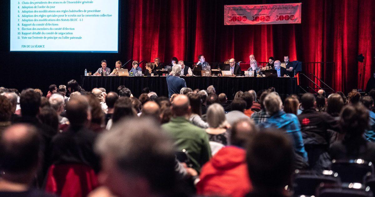 Les membres du SCRC en assemblée générale aujourd'hui - Photo : Michel Giroux