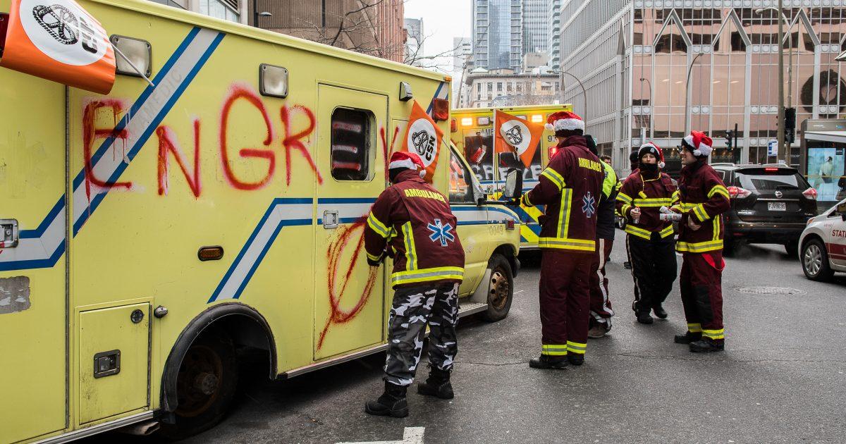 002 Ambulanciers manif photo M.Giroux 08 décembre 2017