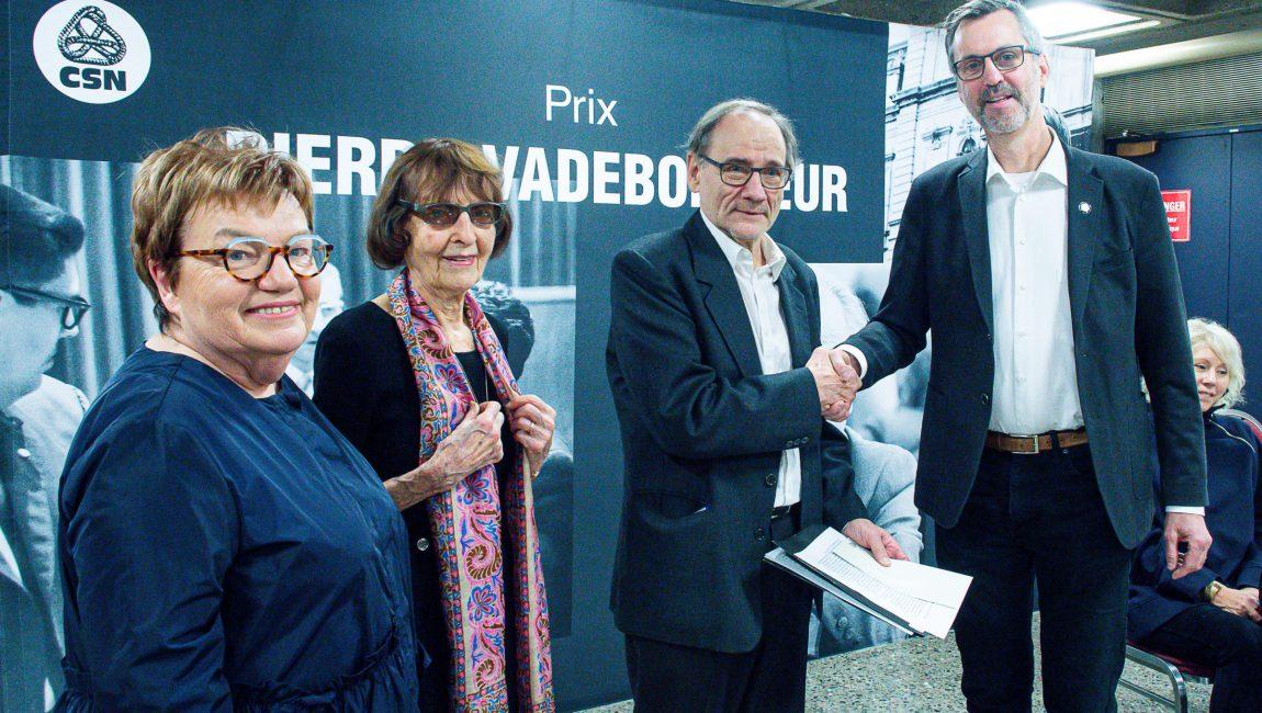 Claudette Carbonneau, Marie Vadeboncoeur, Yvon Rivard et Jean Lortie