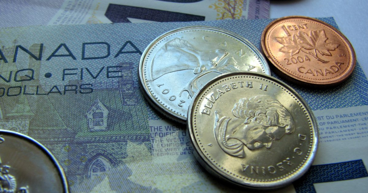 canadian currency closeup