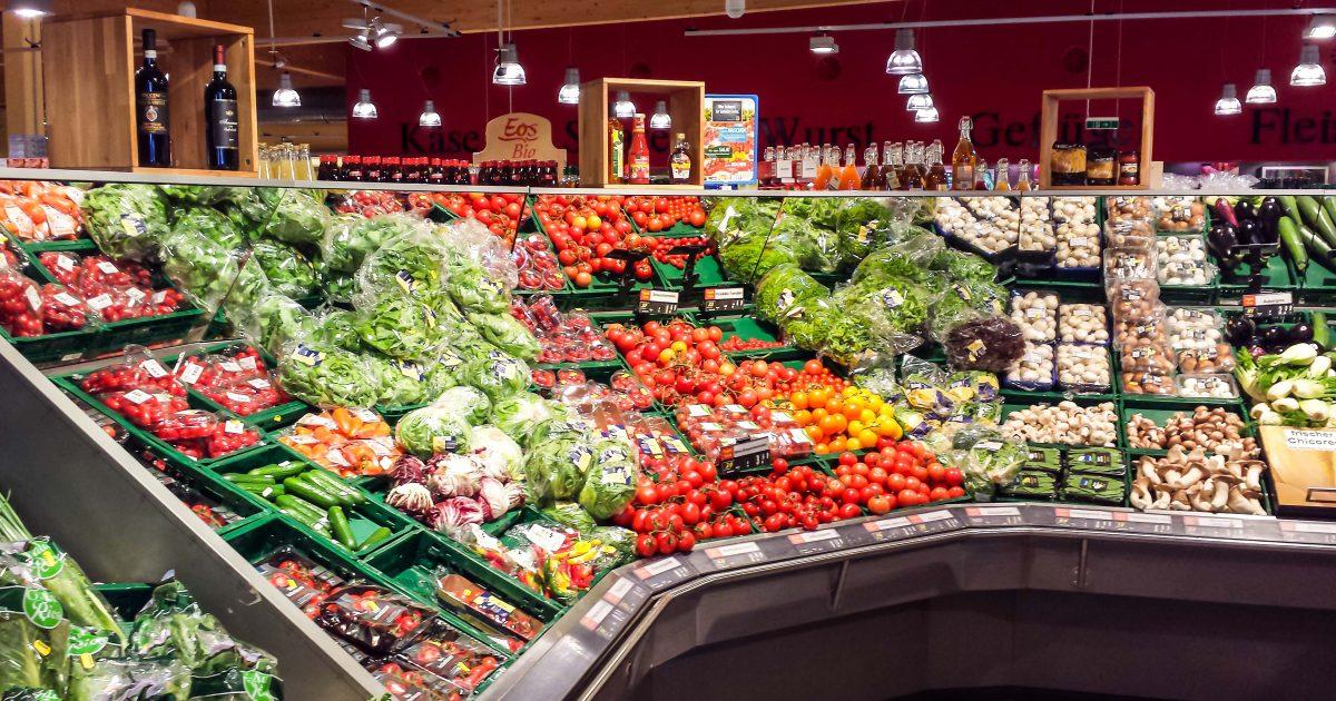 Gemse im Supermarkt
