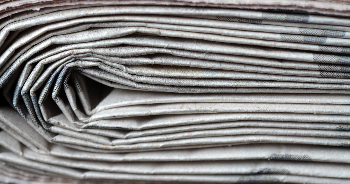 Gros plan de journaux