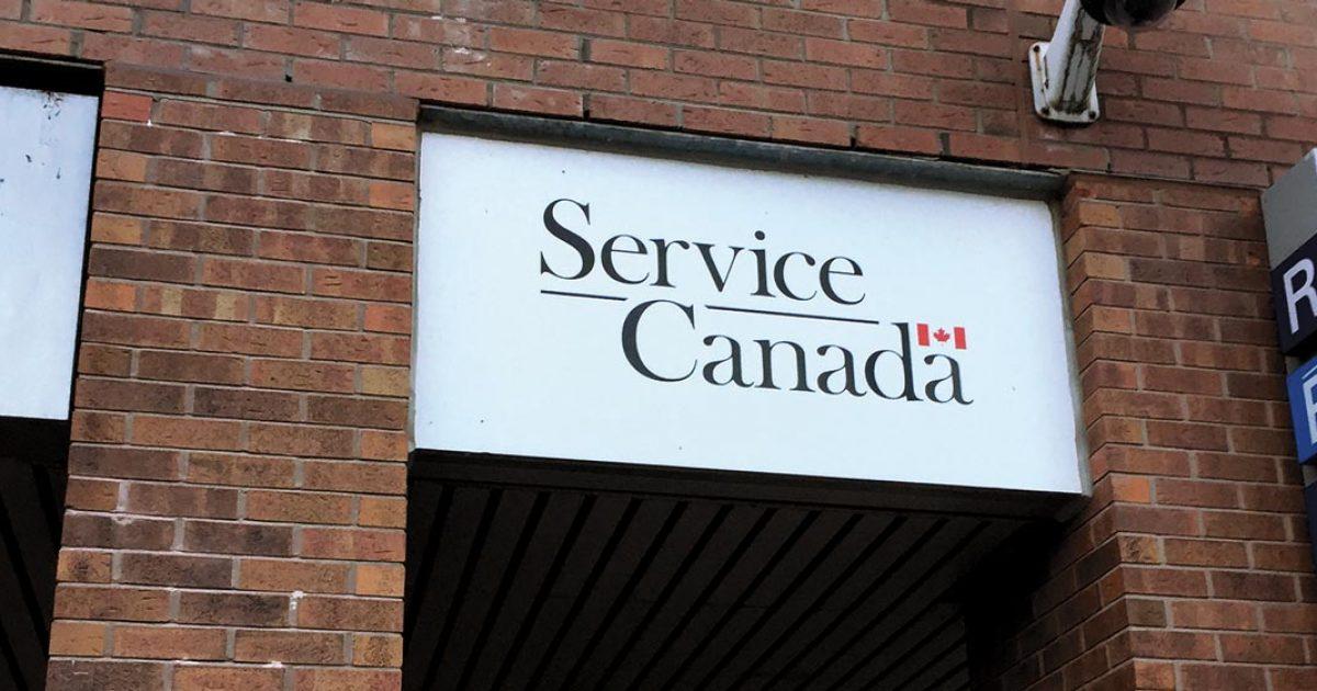 Pancarte de Service Canada
