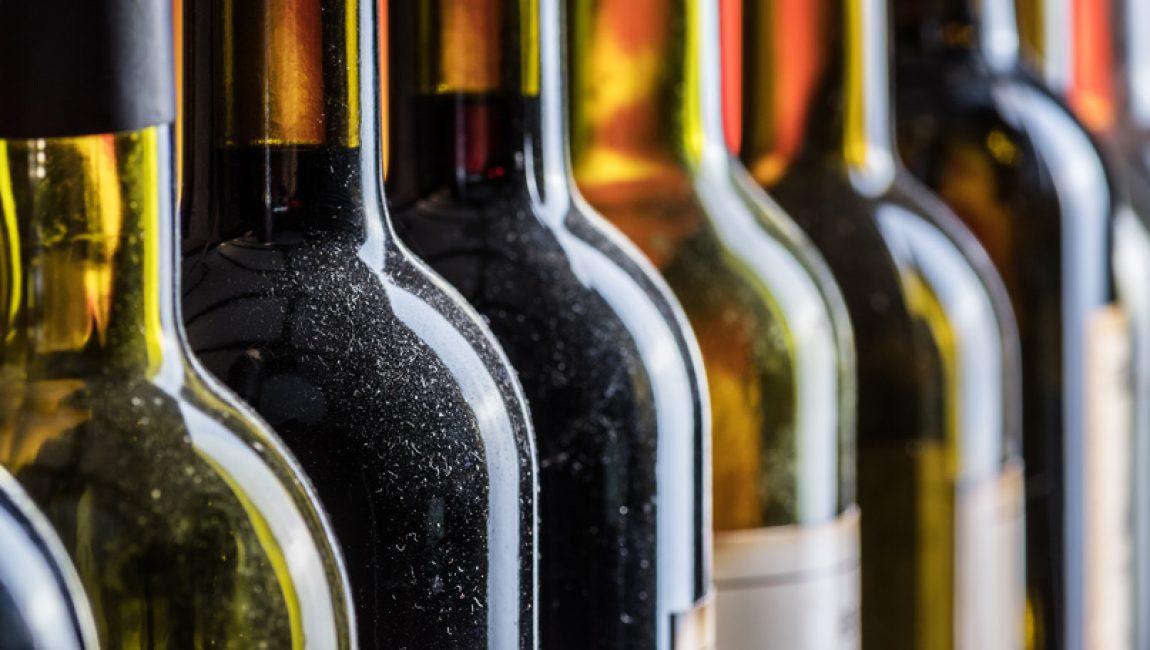 Bouteilles de vin vide
