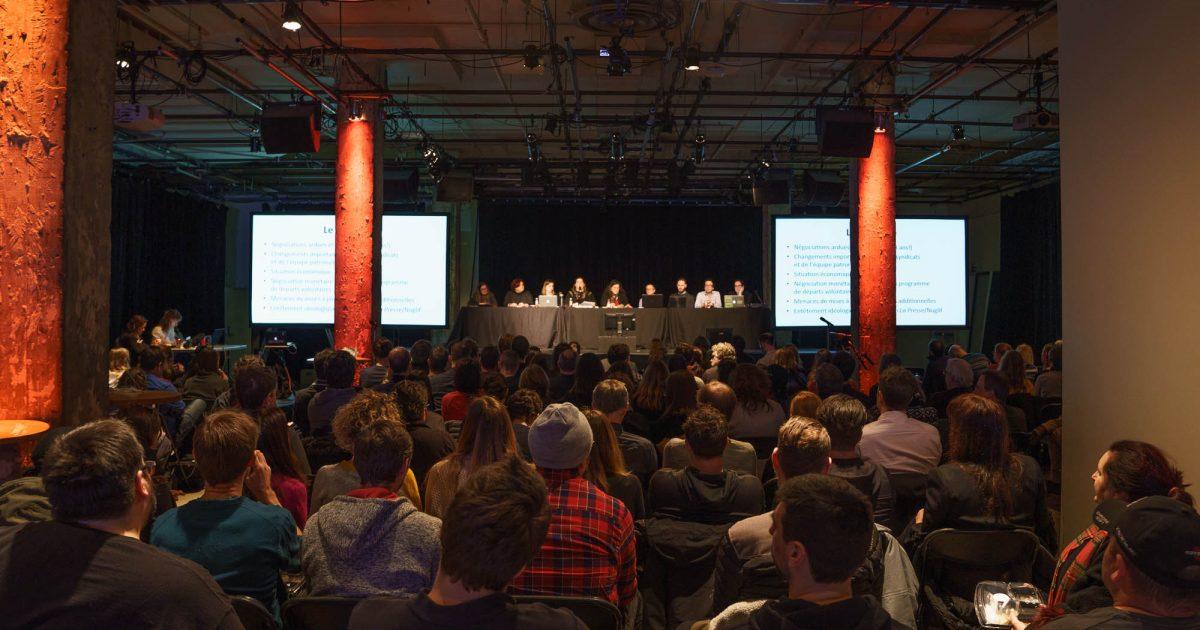 Photo : Les membres du STIP en assemblée générale. - Hugo-Sébastien Aubert, STIP