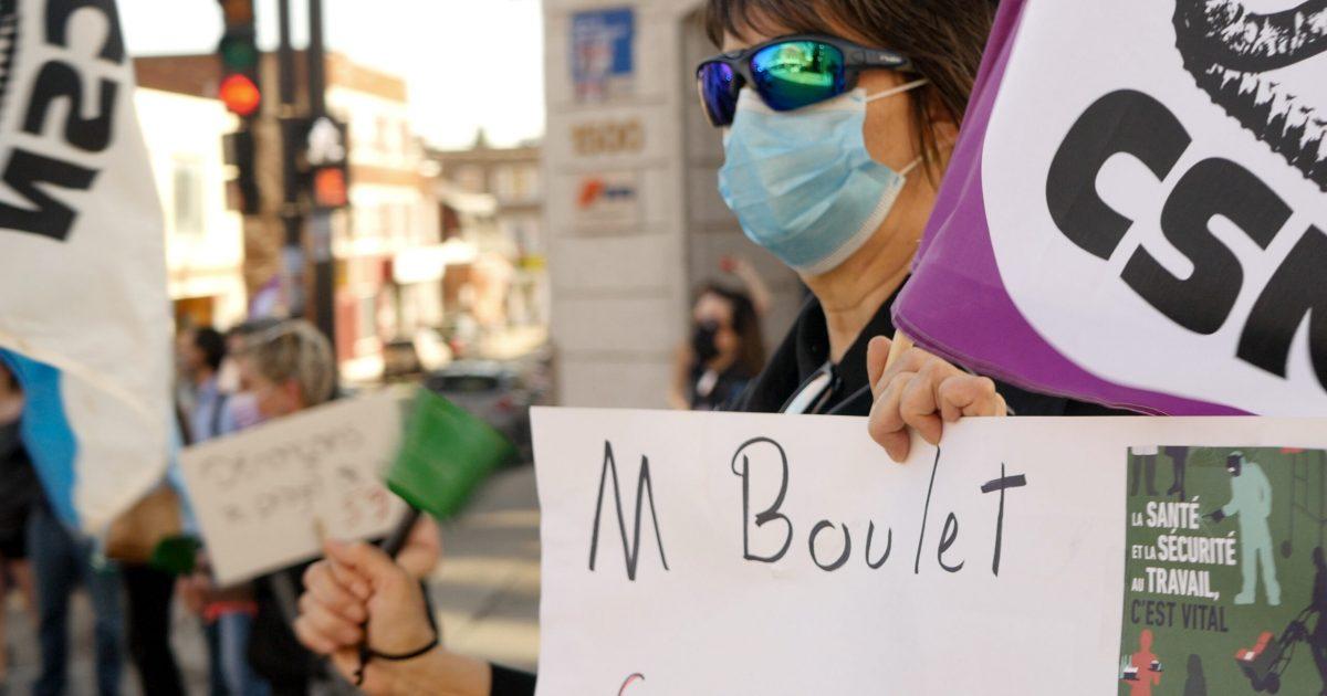 Manifestation contre le PL-59 à Trois-Rivières