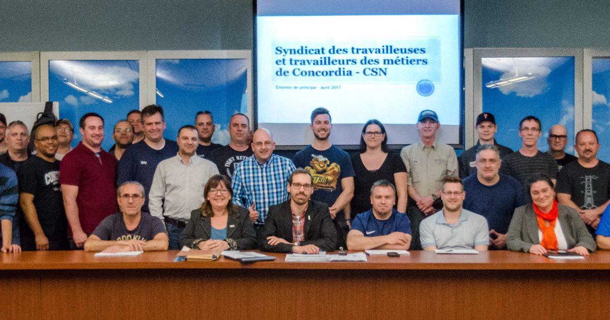 STT des métiers de Concordia première convention CSN