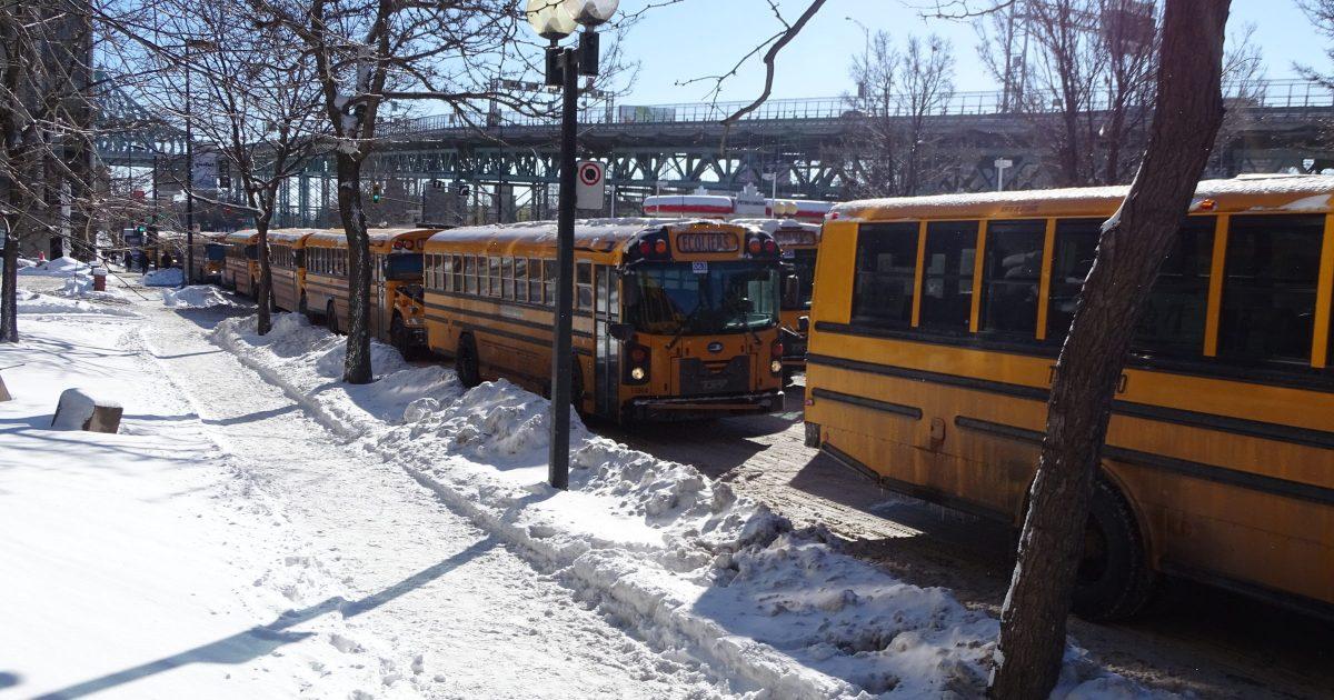 Virée jaune du 5 février dernier à Montréal en appui à la campagne actuelle menée par la FEESP-CSN.