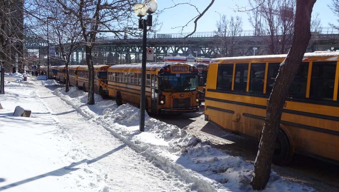 La virée jaune du 5 février dernier à Montréal.