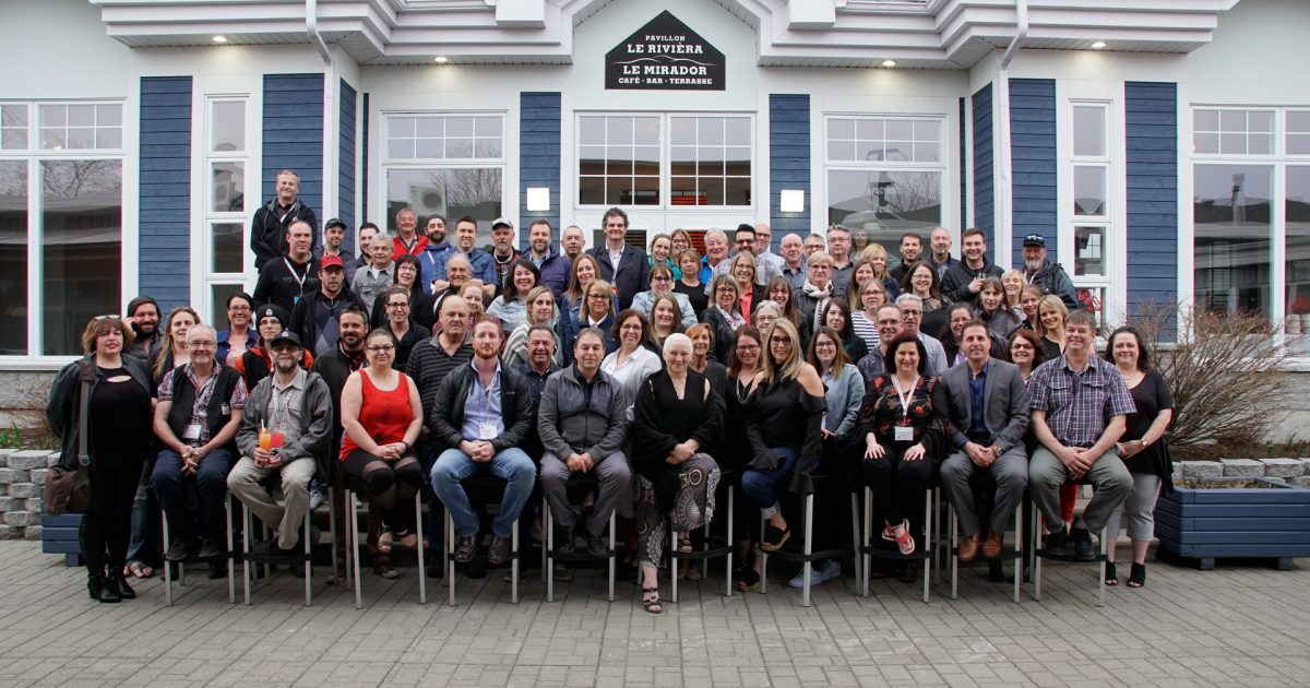 Les délégué-es, les élu-es et les salarié-es du mouvement présents au 25e congrès du CCBSL. - Photo : Jocelyn Landry.