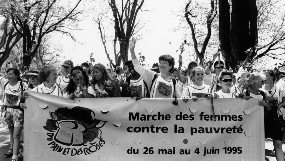 Arrivée de la Marche des femmes contre la pauvreté à Québec le 4 juin 1995