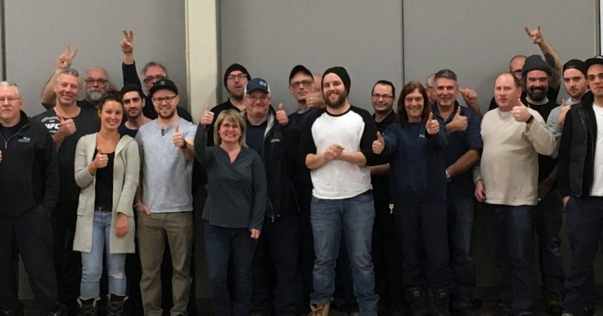 Les membres du Syndicat manuel des travailleurs et travailleuses de Vaudreuil-Dorion–CSN