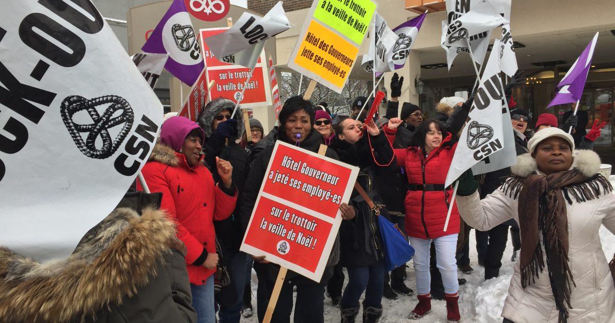 Les membres du STTHGPD à Trois-Rivières aujourd'hui.