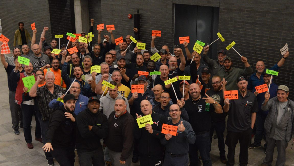 Les membres du Syndicat des travailleurs de Demix-CSN.
